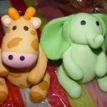 Fondant Jungle/Safari Animal Cake T..