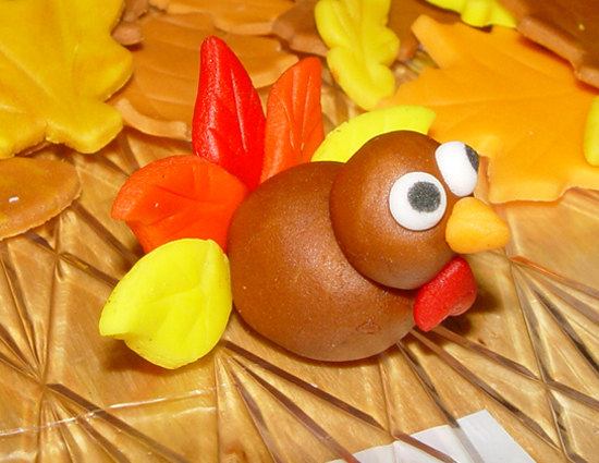 12 Fondant Turkey Cupcake Toppers on Luulla