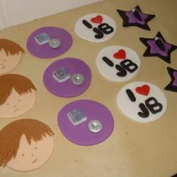 12 Fondant Justin Beiber Themed Cupcake Toppers