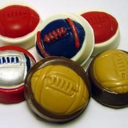 One Dozen (12) Football Chocolate Covered Oreos