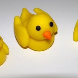 Fondant Mommy & Baby Duck Cake Topper- FALL SALE Save up to 35% off your order (see shop front for details)