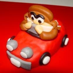 Fondant Racer Cake Topper